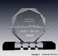 majestic octagon crystal award trophy