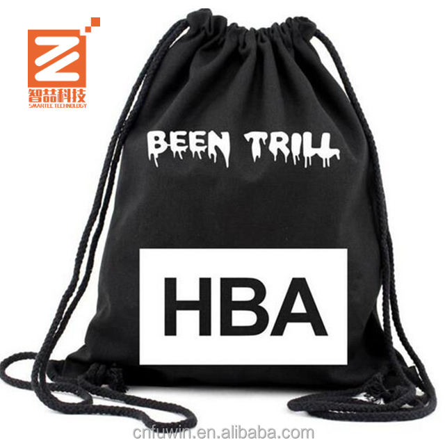 Promotional Customizable 210D Polyester Drawstring textile shopping bag