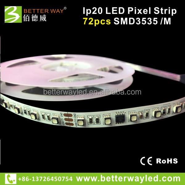 Betterway 3535 smd flexible LED Strip dc 24V voltage 120leds/meter with CE and RoHS Marks