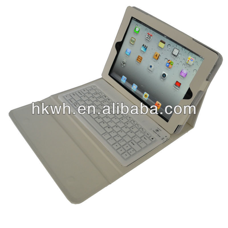 Wholesale Factory Stand Leather PU Case With Bluetooth Keyboard For ipad air/New ipad