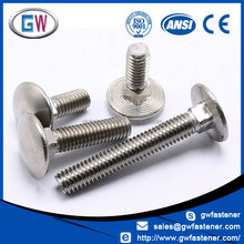 A2 A4 flat head carriage bolt stainless steel