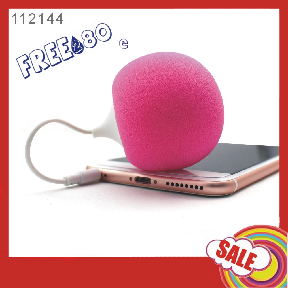 Mini Cute Sponge Round Design Audio Dock sponge ball speaker for iphone6/LG G5/Samsung S6/S7/VIVO X6