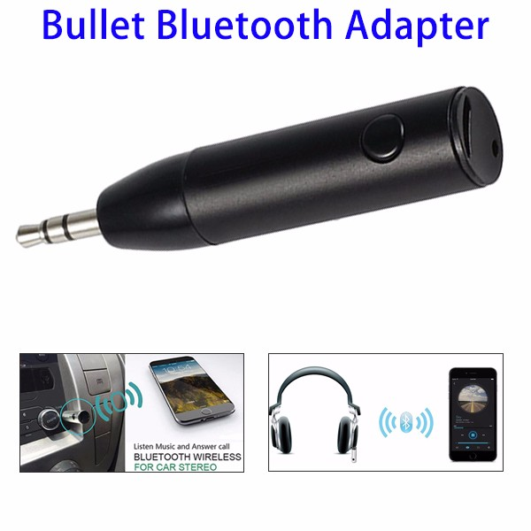3.5mm V4.1 Mini AUX Audio Smart Wireless Car Bluetooth Music Transmitter Receiver Adapter