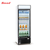 216-390L Direct Cooling Single Glass Door Upright Fridge Freezer Showcase