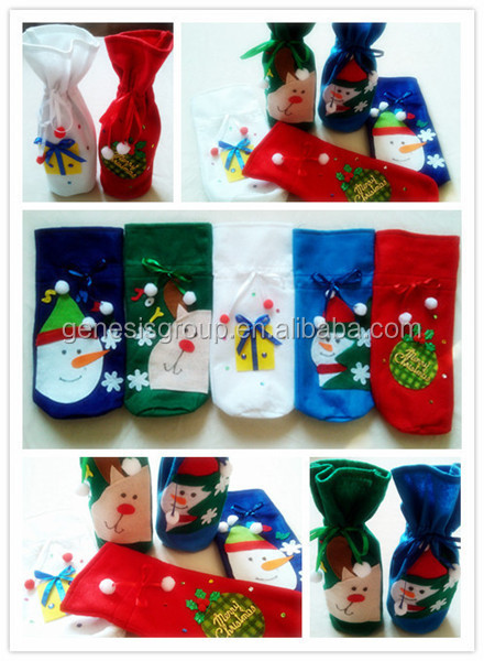 Nonwoven Material Christmas themed gift bags in Alibaba