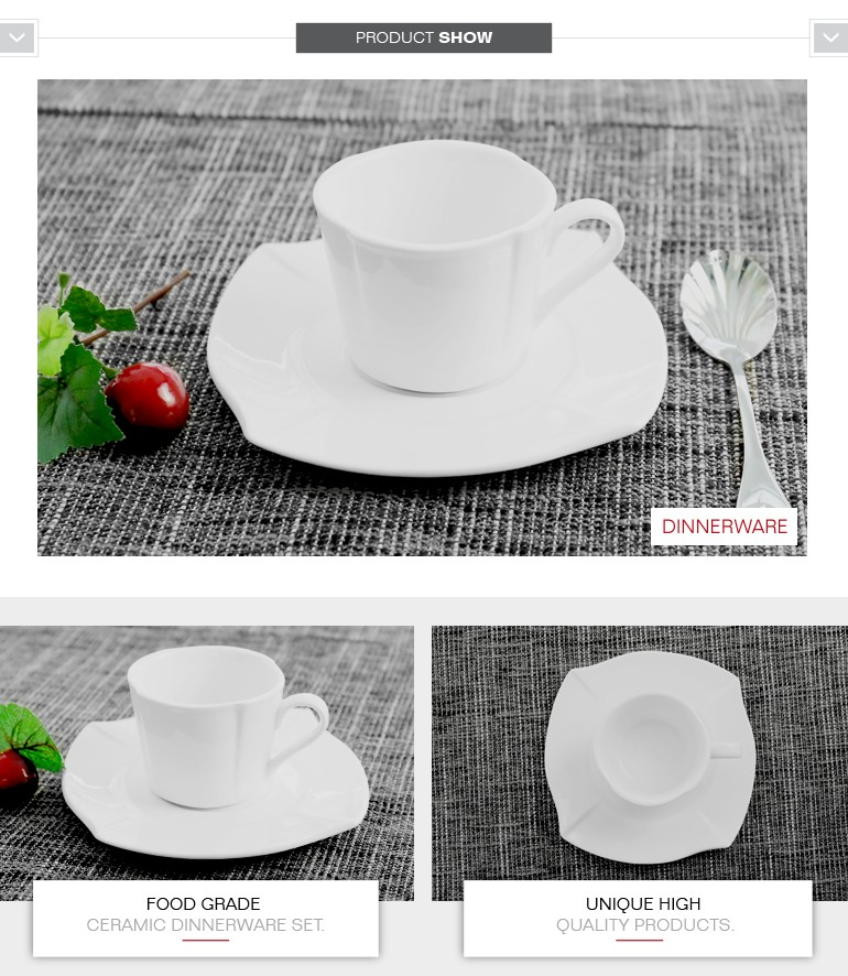 chaozhou round 150ml ceramic coffee tea cups saucers with different types