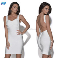 Sexy Women Backless Strapless Slim Bandage Bodycon Dress Cocktail Evening Party Dresses