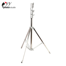 Professional top grade adjustable telescopic film light stand heavy duty stainless steel 3m light stand
