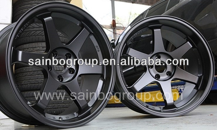 Black Rays TE37 Alloy Wheel Rim With High Quality