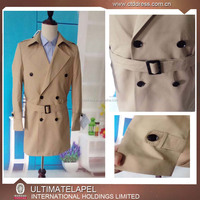 2016 New Style Double Breasted Trench Coat Men With Belt