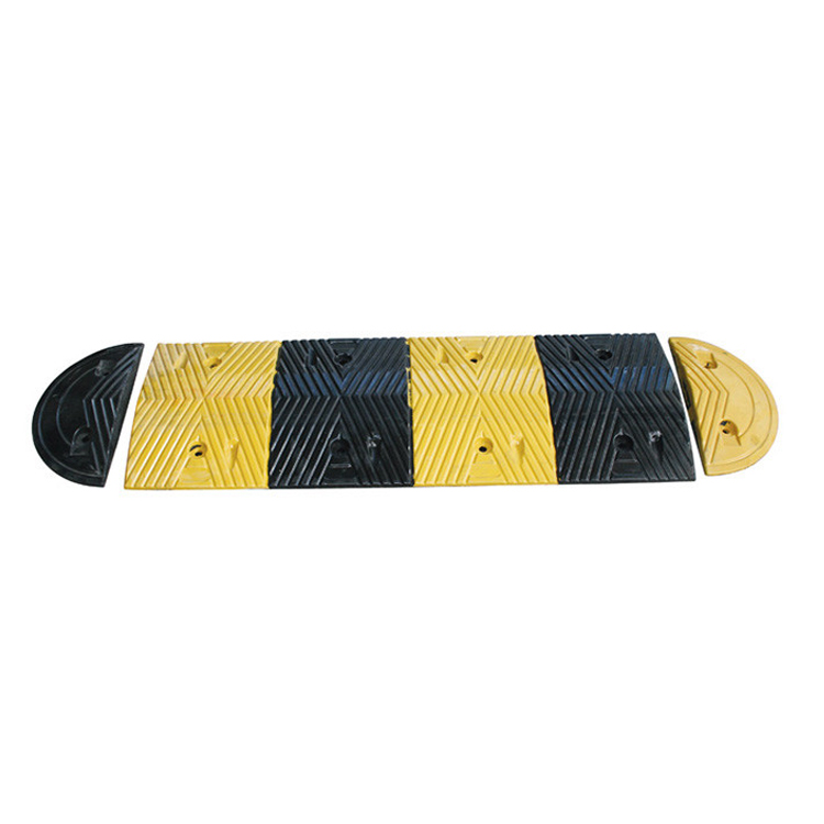 Yellow Reflective Road Speed Rubber Hump