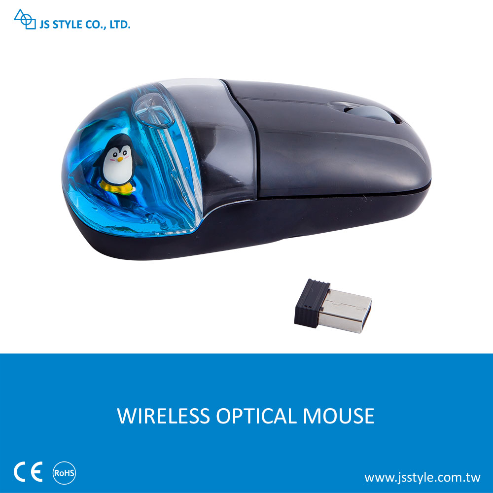 3D Customized Floater 2.4GHZ Wireless USB Optical Mineral OIl Liquid Computer Mouse For Promotion Gift