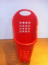 50l plastic rolling shopping baskets