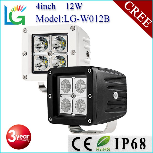 Superior Auto LED Lighting 4inch LED Work Light ,USA LED 12W LED Work Light for 12V Work Light Heavy Duty, Jeep Running Lighting