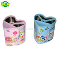 Flower design Metal Tin Pen Holder Pot Makeup Brush Holder Vase Pencil Rack For Stationery