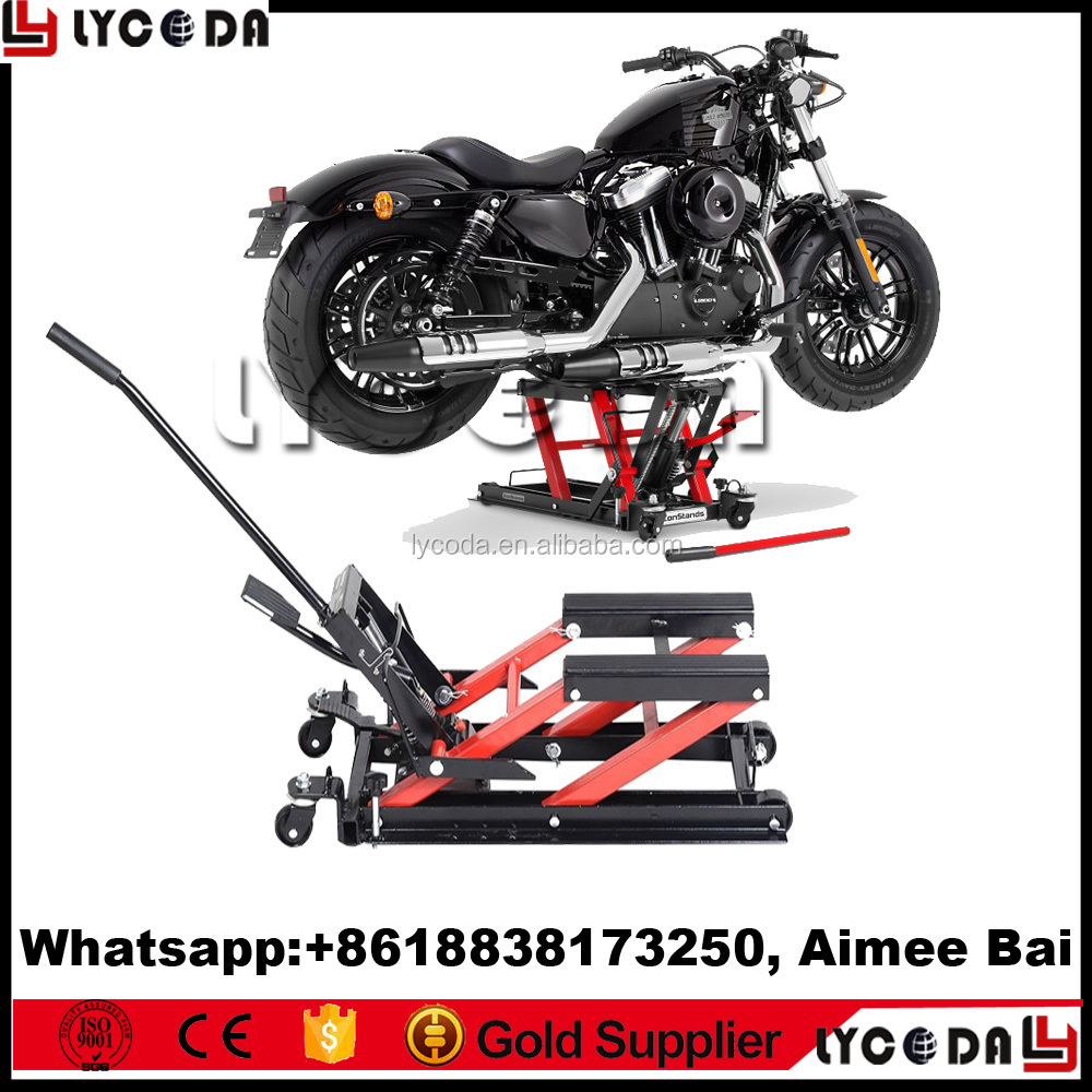 2017 new release mini motorcycle lift small handle motorcycle lift jack for repair mini automotives