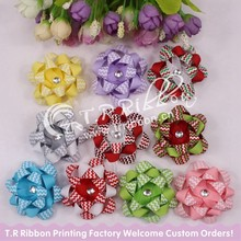 Fashion ribbon hair bow with clip without clip for girl