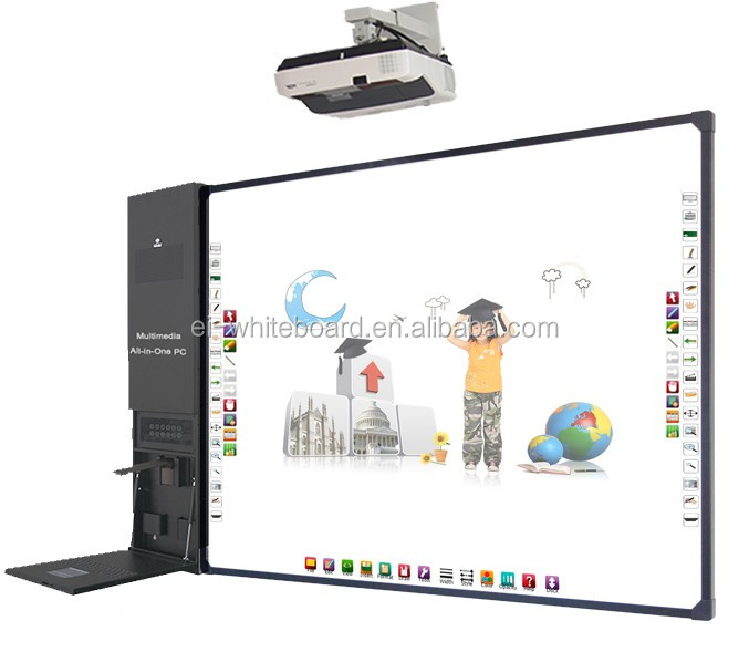 portable electronic smart digital boards with projector interactive whiteboard