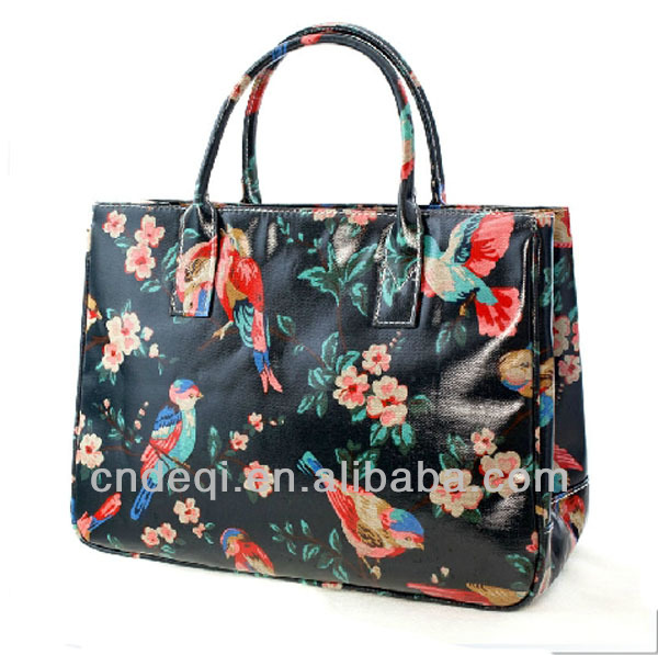 Durable Laminated Canvas Women Hand Bag