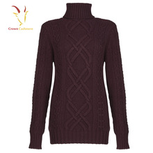 Cable Knit Women Erdos Cashmere Woollen Sweater
