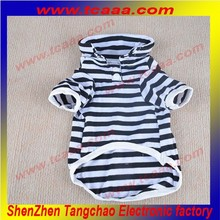 wholesale Stripe summer brand led dog Polo T Shirt clothes pet coat