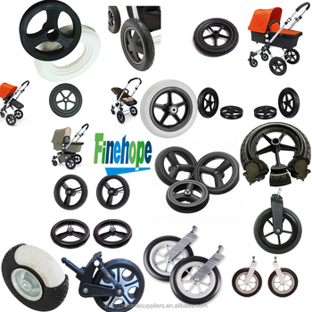 OEM Customize logo PU stroller wheel hot wheels rubber tyres pu tire