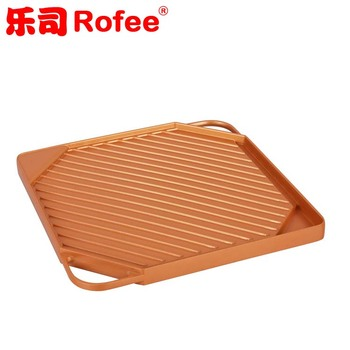 Die Casting non-stick double sided home roaster camping Grill Pan