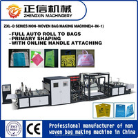 ZXL-D700 PP spunbonded nonwoven fabric bag making machine for shopping bag (4-in-1)