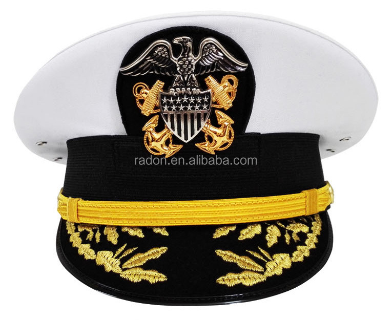 shenzhen made white USA military officer double peaked cap