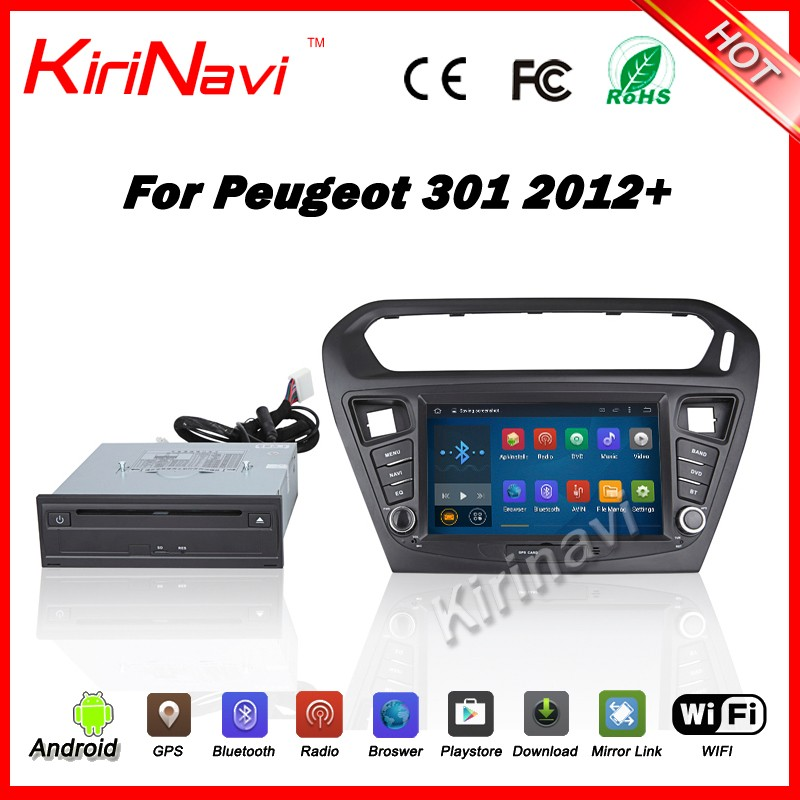 Kirinavi WC-PG8081 android 5.1 car multimedia for peugeot 301 car dvd player gps navigation 2012+ wifi 3g