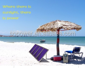 Solar Power system generate portable solar charging station for camping free energy