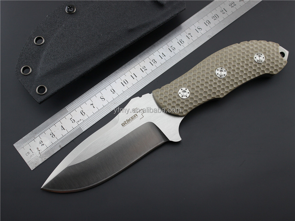 OEM High quality tactical fixed blade knife material D2 blade G10 handle leisure nature hand tools