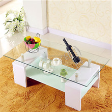 Luxury coffee shop shengfang furniture glass coffee tables