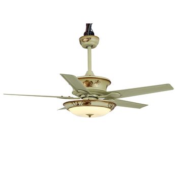 Traditional ceiling fan and light ceiling fan with LED light and remoto control