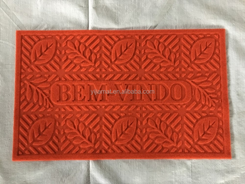Heat Embossed WELCOME designed logo mat