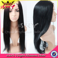 2014 new arrival 100% unprocessed u part human hair clip in hair half wig