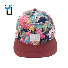 Floral Design Your Own Custom 5 Panel Hat Wholesale