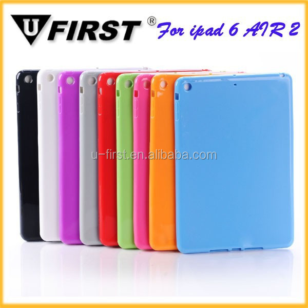 Candy color Soft TPU case for iPad air 2