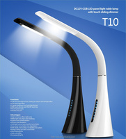 eye-protection reading LED table lamp with touch sliding dimmer