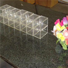 Transparent acrylic shoes box display stand case with printed logo