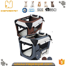 Durable wholesale pet carrier with curtain