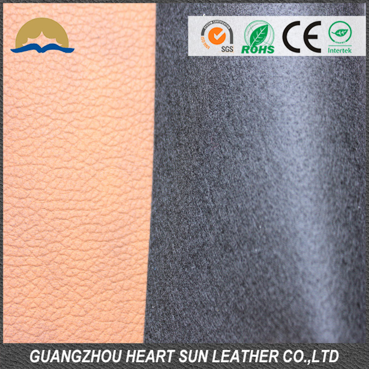 wholesale flock material shoes synthetic leather fabric