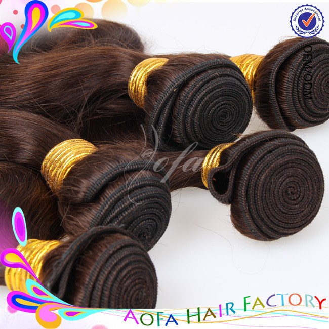 100% raw virgin hair loose deep wave, 100% weave hair color 30