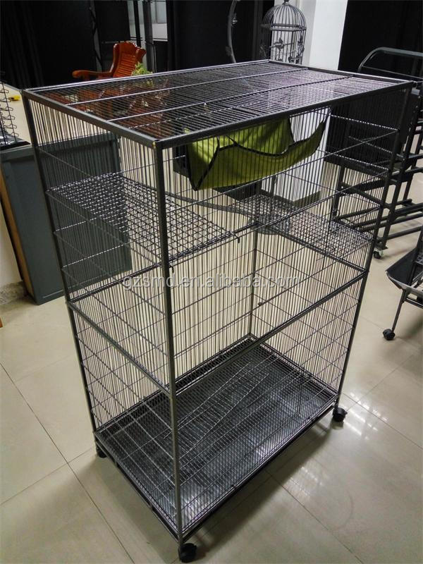 Wholesale High quality Black Metal Wire 4 Layer Luxury Big Extra Large Pet Hamster Cage