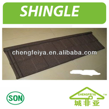 Building Material Stone Coated Metal Shingle Roofing Tiles