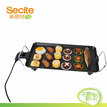 electric non-stick square bbq grill