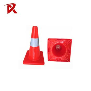 Road safety flexible cone PVC reflective traffic warning cone/traffic safety cone