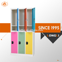 Well Design Compact File Cabinet, School Wall Colorful Locker with too many doors