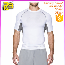 2017 Newest Custom Men T shirts MMA Short Sleeve T-shirt Men's Compression Shirts Fitness Bodybuilding Black White Clothing