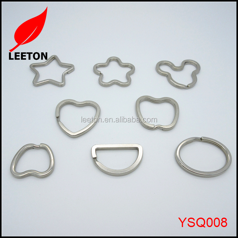 Factory supply different type fancy metal split key ring